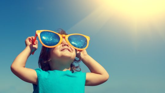 child outdoors vitamin d